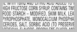 additives on ingredients label