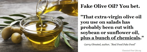 CFL Graphic-Fake Olive Oil filled with chemicals