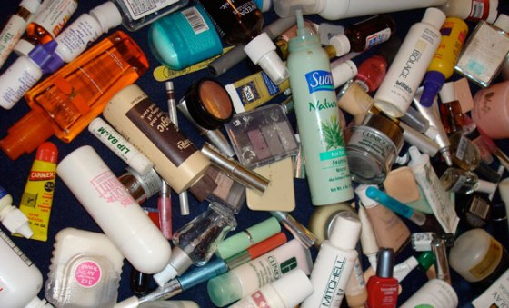 personal care chemicals-product pile
