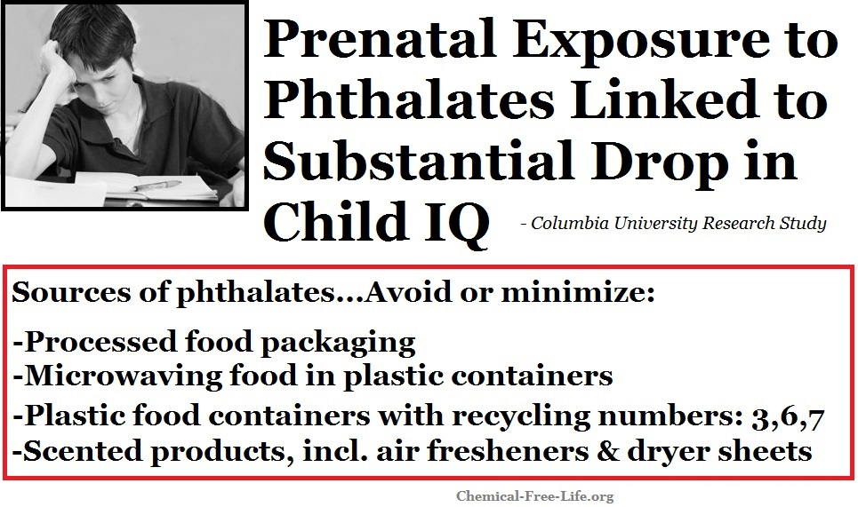 CFL Graphic-phthalate exposure in pregnancy linked to lower child IQ