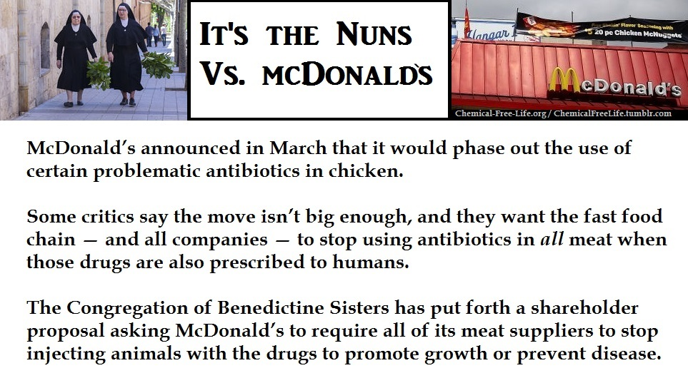 CFL Graphic-nuns vs mcdonalds antibiotics
