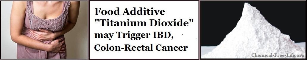 titanium dioxide triggers IBD, colon rectal cancer